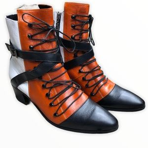 MODERN VICE lace up boot with small heel sz 37.5